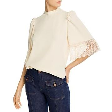 See by Chloe Embellished Crepe Blouse