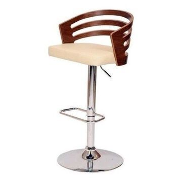 Bowery Hill Swivel Bar Stool, Cream