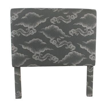 HomePop Twin Headboard - Gray Clouds (Grey)