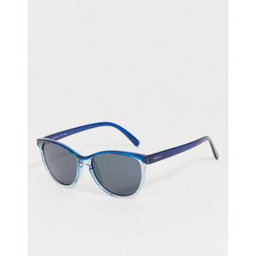 Esprit polarised round sunglasses in blue