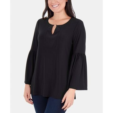 O-Ring Bell-Sleeve Top