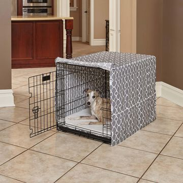Midwest Quiet Time Defender Gray Crate Cover for Dogs