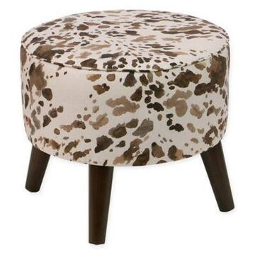 Skyline Furniture Cow Ottoman in Cream