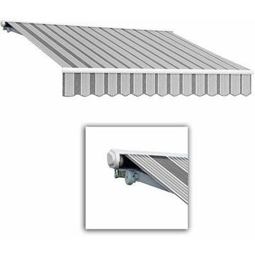 Awntech Galveston Semi-Cassette Left Motor with Remote Motorized Retractable Awning
