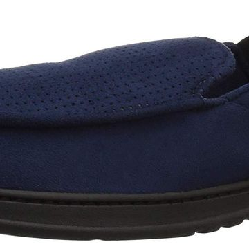 Dearfoams Men's Perforated Moccasin with Gore Slipper