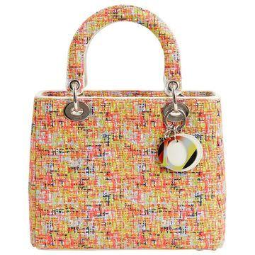Dior Lady Dior Multicolour Tweed Handbag
