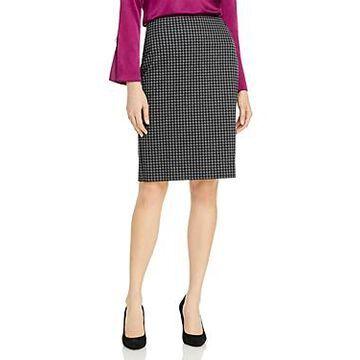 Boss Veroki Houndstooth Pencil Skirt