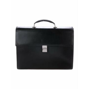 Leather Briefcase Black