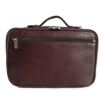 Piel Leather Hanging Cosmetic Utility Kit in Chocolate