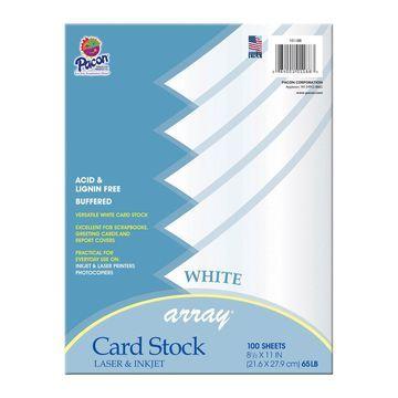 Pacon Array 200-sheet Laser & Inkjet Cardstock-White