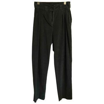 Apc \N Green Cotton Trousers