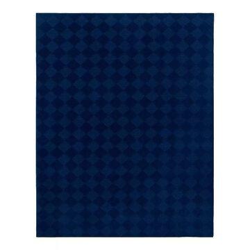 Garland Rug Diamond Geometric Rug, Blue, 2X12 Ft