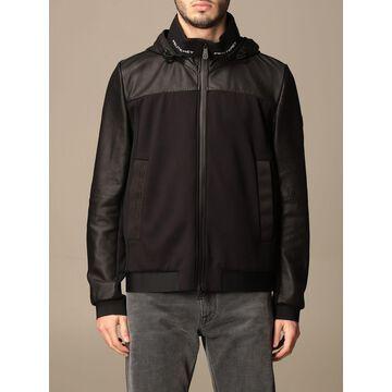 Santaander Peuterey sweatshirt in jersey and leather