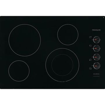 Frigidaire 30-in 4 Elements Smooth Surface (Radiant) Black Electric Cooktop   FFEC3025UB