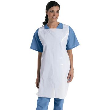 Medline Apron, Poly, Pullover, 24-inch x 42-inch (Bulk pack of 1,000)