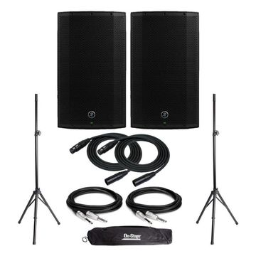 Mackie Thump12BST Thump Powered Loudspeaker (Pair) with Stands and Cables