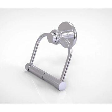 Allied Brass Mercury Satin Chrome Wall Mount Double Post Toilet Paper Holder | 924T-SCH