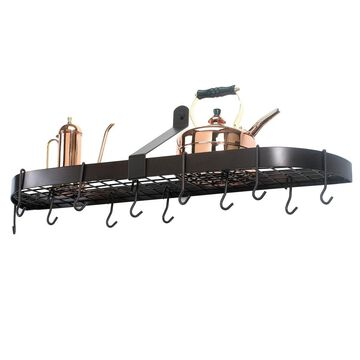 Old Dutch Wall Mount Pot Rack with Grid & 12 Hooks