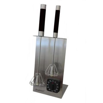 BergHOFF Whisk Stand and Timer Set, 18/10 SS , 16.5-in, Black Stainless Steel