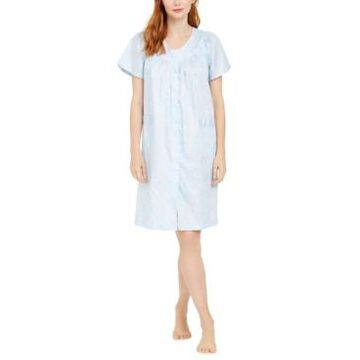 Miss Elaine Cotton Printed Short Sateen Robe