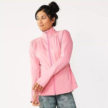 Women's Tek Gear Performance Zip-Front Jacket, Size: Medium, Light Pink