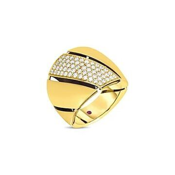 Roberto Coin 18K Yellow Gold Torchon Diamond Statement Ring