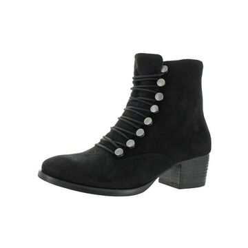 Earth Womens Doral Ankle Boots Suede Stacked Heel