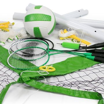 Wild Sports Badminton and Volleyball Game Combo Set
