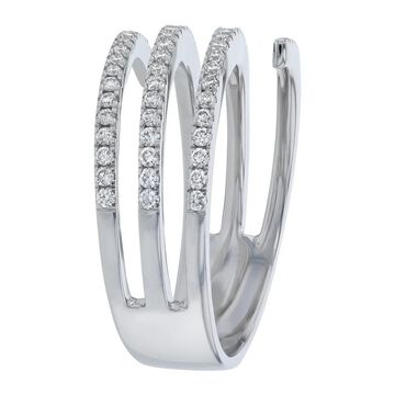 14K White Gold 0.60 ct. Diamonds Multi Rows Ring by Beverly Hills Charm
