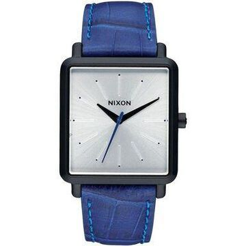 Nixon A472-2131 K-Squared Mens Blue Leather Bracelet With Silver Analog Dial