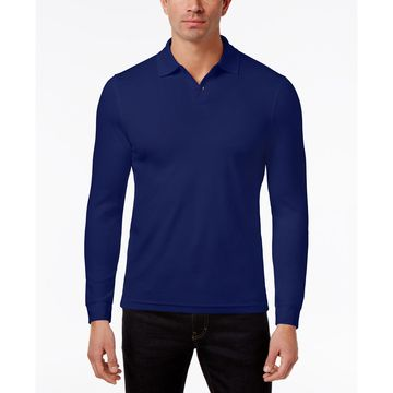 Men's Supima& Blend Long-Sleeve Polo, Created for Macy's