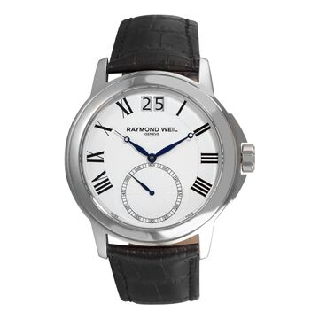 Raymond Weil Men's Traditional Leather Strap Watch (Men's)