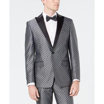Men's Slim-Fit Medallion Jacquard Dinner Jacket