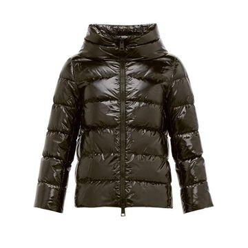 Herno - Lacquer Finish Down Filled Jacket - Womens - Black