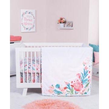 Trend Lab Painterly Floral 3-Piece Crib Bedding Set Bedding