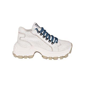 Miu Miu Platformed Laced-up Sneakers