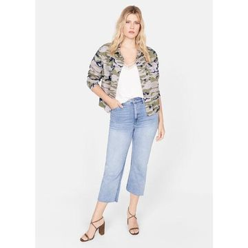 Violeta BY MANGO - Camo-print jacket khaki - M - Plus sizes