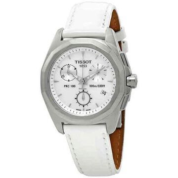 Tissot PRC 100 Chronograph Silver Dial Ladies Watch T008.217.16.111.00