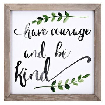IMAX Home 65601 Courage 16 Inch x 16 Inch Fir Wood Framed Art Print on
