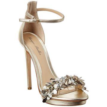 Monique Lhuillier Marlowe Leather Sandal