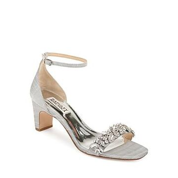 Badgley Mischka Women's Jackie Embellished Mid-Heel Sandals