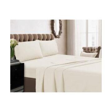 Tribeca Living 350 Thread Count Cotton Percale Extra Deep Pocket King Sheet Set Bedding