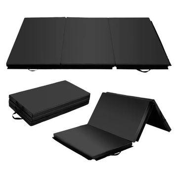 Costway 6'x 4' Tri-Fold Gymnastics Mat Thick Folding Panel Gym Fitness