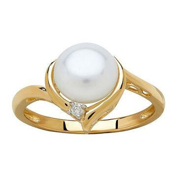 Certified Sofia Cultured Freshwater Pearl & Diamond Accent 10K Gold Ring Family