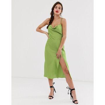 Finders Keepers Cristina midi slip dress-Green