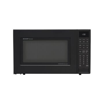 Sharp 1.5 Cu. Ft. 900W Convection Microwave Oven, Black