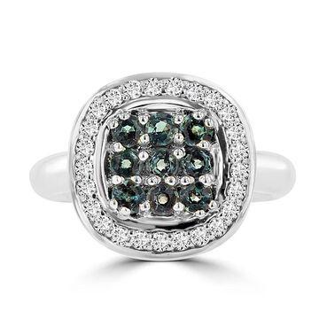 La Vita Vital 14k White Gold Color-changing Alexandrite 1/4ct and 1/3ct TDW Diamond Ring (G-H, SI1-SI2)