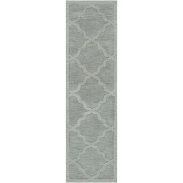 Artistic Weavers Central Park Abbey 2'3 x 8' Handcrafted Runner in Light Blue