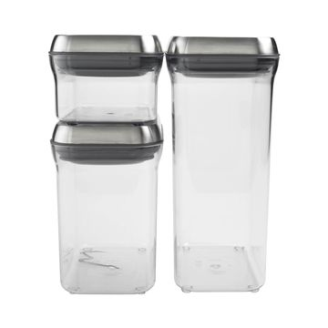 OXO Good Grips Pop 3-pc. Stainless Steel Food Storage Canister Set