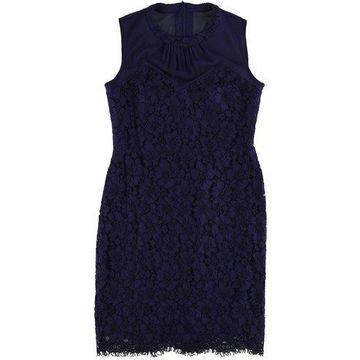 Anne Klein Womens Illusion A-line Dress
